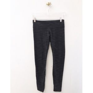 lululemon / gray textured full length leggings